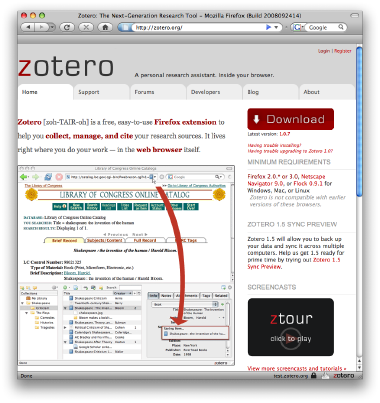 "Zotero's ""new"" look"